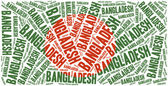 National flag of Bangladesh. Word cloud illustration. — Stock Photo
