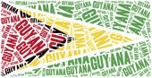 National flag of Guyana. Word cloud illustration. — Stock Photo