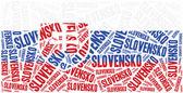 National flag of Slovakia. Word cloud illustration. — Foto de Stock