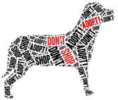Don't shop, adopt. Animals or domestic pets adoption. — Stock Photo