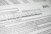 German tax form. — Stock Photo
