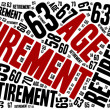 Word cloud illustration related to retirement age. — Stock Photo #64984383