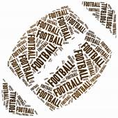 Word cloud illustration related to american football. — Stock Photo
