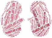 Kidney transplantation. Word cloud illustration. — Stock Photo