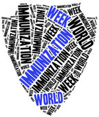 World immunization week. Word cloud illustration. — Stock Photo