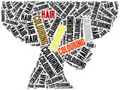 Hair colouring. Word cloud illustration. — Stock Photo