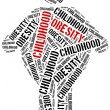 Word cloud related to childhood obesity. — Stock Photo #70735591