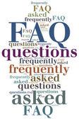 FAQ. Frequently asked questions. — Stock Photo