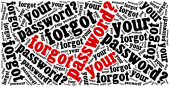 Forgot password? Phrase related to internet website. — Stock Photo