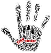 Stop homicide. — Stock Photo