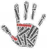 Stop kidnapping. — Stock Photo