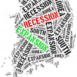 Expansion and recession in South Korea. — Stock Photo #72872271