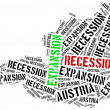 Expansion and recession in Austria. — Stock Photo #72872357