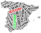 Expansion and recession in Spain. — Stock Photo