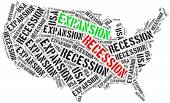 Expansion and recession in USA. — Stock Photo