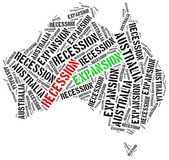 Expansion and recession in Australia. — Stock Photo