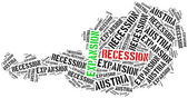 Expansion and recession in Austria. — Stock Photo