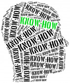 Knowhow. Speciale kennis die nodig is in het bedrijfsleven. — Stockfoto