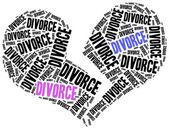 Divorce of marriage breakup. — Stock Photo