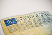 Car registration book. Polish documents. — Stock Photo