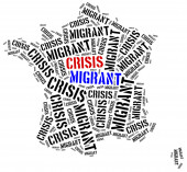 Syrian migrant or refugees crisis in Europe. — Stock Photo