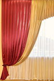 Beautiful red curtains — Stock Photo