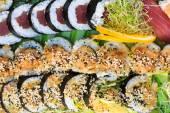 Fresh sushi close up — Stock Photo