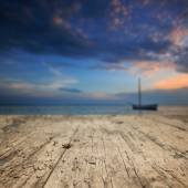 Wood textured backgrounds on the Baltic sea — Stock Photo