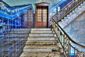 Staircase in an old stylish plant. — Stock Photo