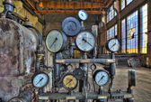 Indicators for the measurement in an old factory. — Stock Photo