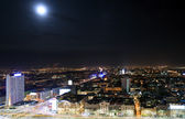 View of the center of Warsaw at night — Stock Photo