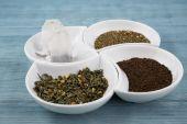 Various types of tea — Stock Photo