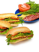 Sandwich on a white background — Stock Photo
