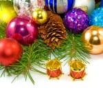 Beautiful Christmas balls on a white background — Stock Photo #57018989