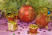 Image of many Christmas tree decorations  — Stockfoto