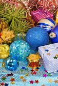 各种圣诞装饰品 — 图库照片