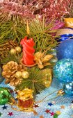 художественные оформления рождественской елки — Стоковое фото