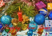 Various Christmas decorations closeup — Stockfoto