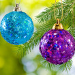 Image of two beautiful Christmas balls — Stock Photo #57970949