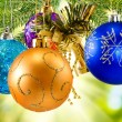 Many colorful Christmas toys closeup — Stock Photo #58402597