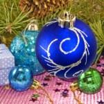 Many bright Christmas toy  — Stock Photo #58404303