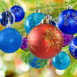 Many colorful Christmas toys — Stock Photo #58407383