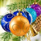 Many bright Christmas toy — Stock Photo