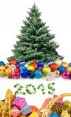 Christmas decoration near the Christmas tree — Stok fotoğraf