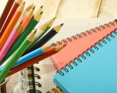 Image of a notebook and pencil  — Stok fotoğraf