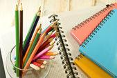 Notebook and pencil closeup — Stock Photo