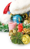 Image of various Christmas decorations — Stock Photo