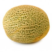 Isolated image of a melon on a white background — Stock Photo