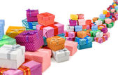 Many of gift boxes on white background — Foto de Stock
