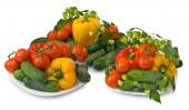 Legumes no fundo branco — Fotografia Stock